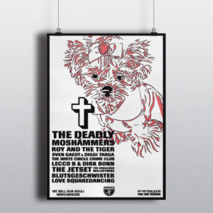 180 bei NässeThe deadly Moshämmers – Plakat